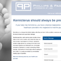 Phillips + Paolicelli Law Landing Page